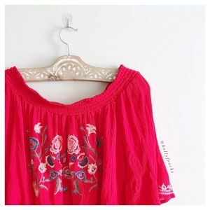 Xhilaration ∙ Embroidered Off The Shoulder Top
